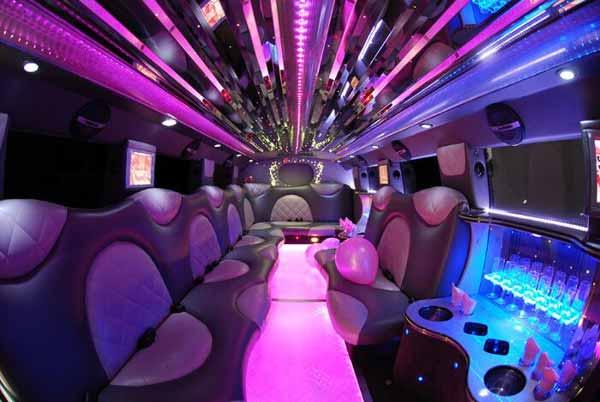 Cadillac Escalade limo interior Lewis Center