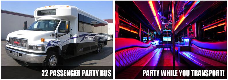 Charter party bus rentals Columbus