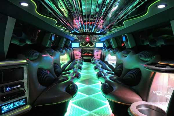 Hummer limo interior Powell